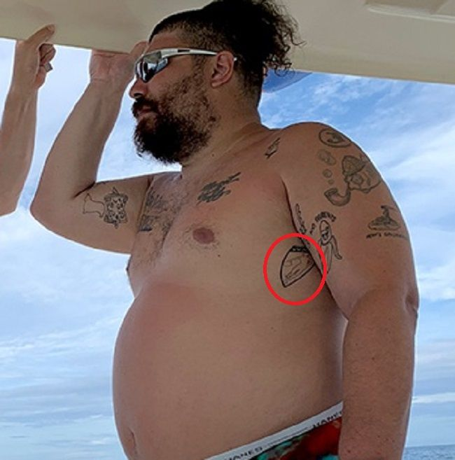 Joshua Ostrovsky-The fat Jewish-Tattoo on ribcage