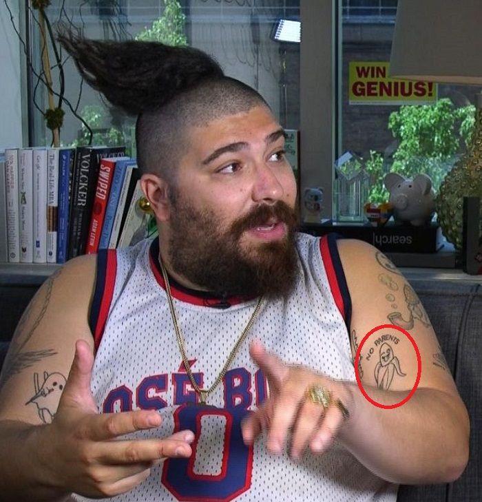Joshua Ostrovsky-The Fat Jewish-Banana Tattoo