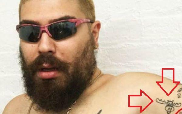 Joshua Ostrovsky-The Fat Jewish-Bullwinkle Face Tattoo