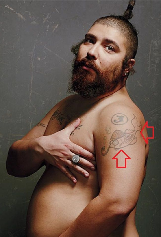 Joshua Ostrovsky-The Fat Jewish-Koi Fish Tattoo