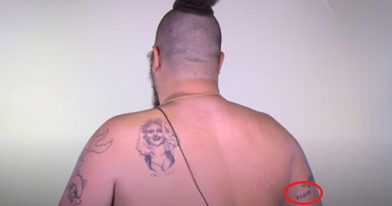 Joshua Ostrovsky-The Fat Jewish-PENIS Tattoo