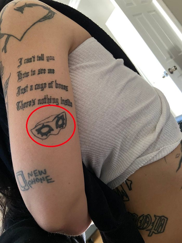 Kreayshawn-Eye Mask Tattoo