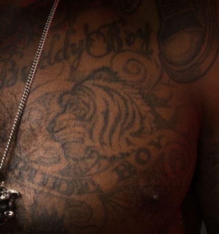 Lloyd Left Pec Tattoo