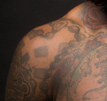Lloyd Rosary Beads Tattoo