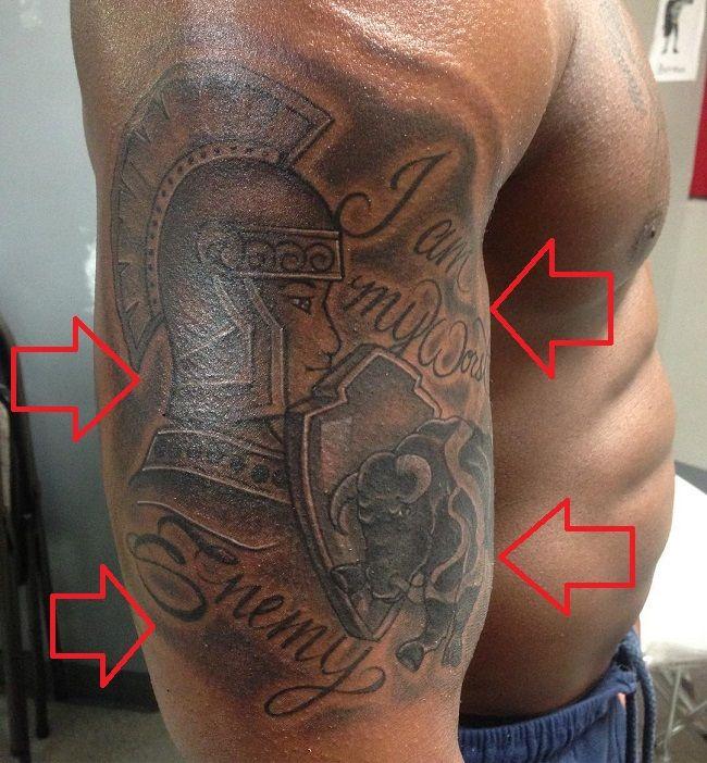Sharron Townsend-Spartan Warrior Tattoo