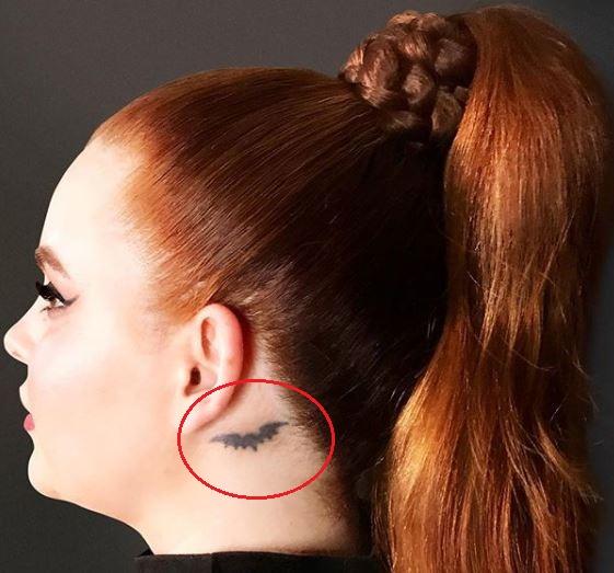 Tess Holliday bat tattoo