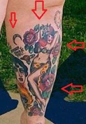 Tess Holliday girl flower tattoo