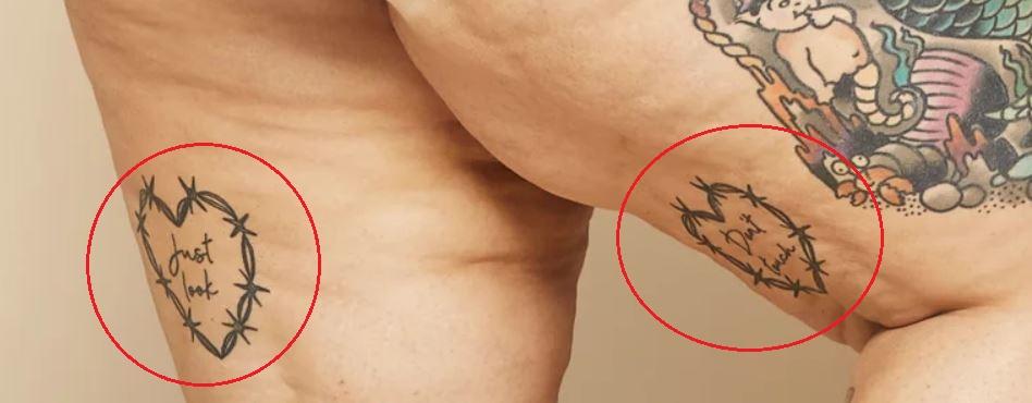 Tess Holliday hearts tattoo