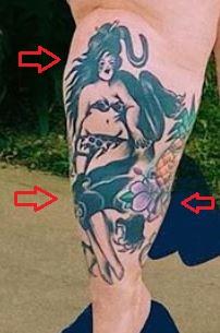 Tess Holliday woman tattoo