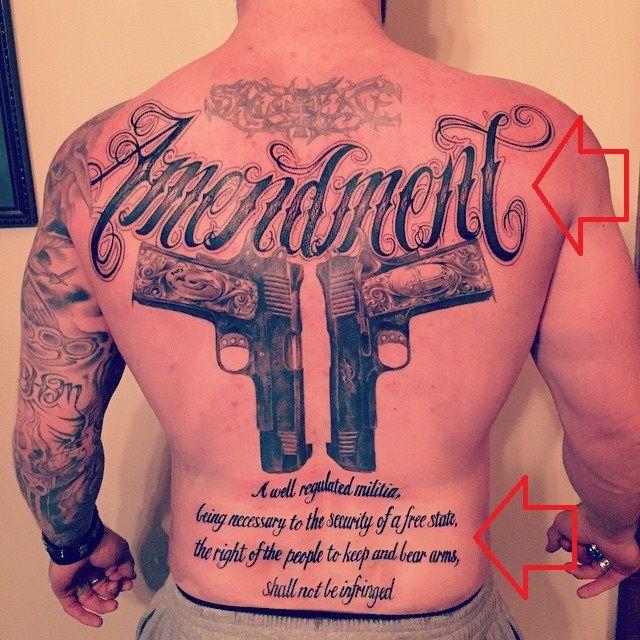 brantley gilbert-amendment tattoo