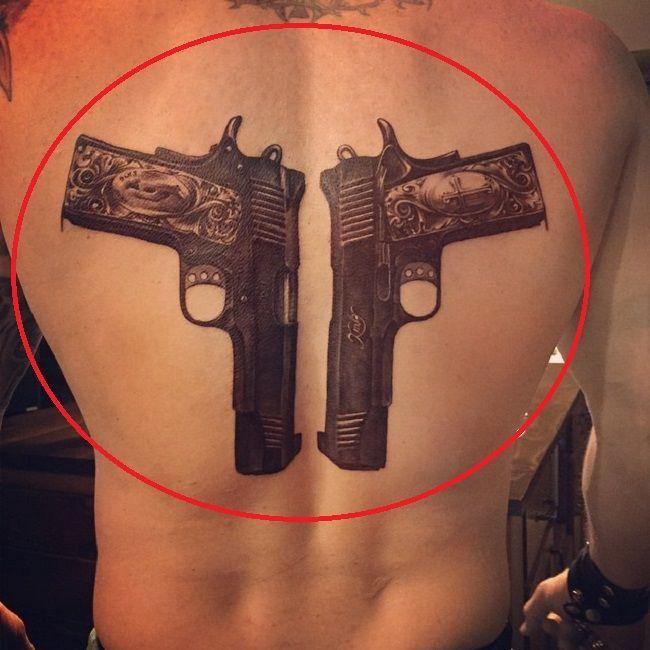 brantley gilbert-pistols tattoo