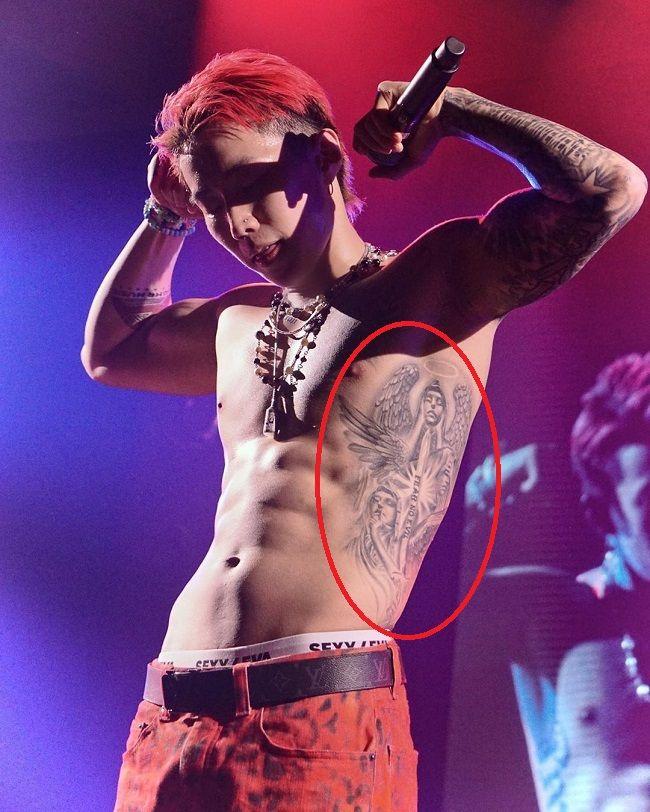 jay park-angel tattoo
