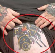 Action Bronson chariot tattoo