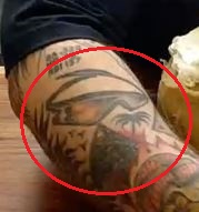 Action Bronson goggles tattoo