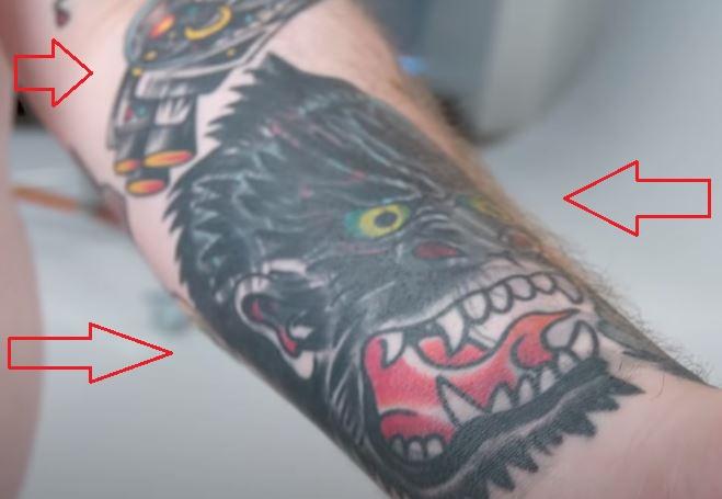 Action Bronson gorilla spaceship tattoo