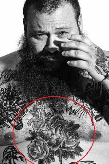 Action Bronson rose tattoo