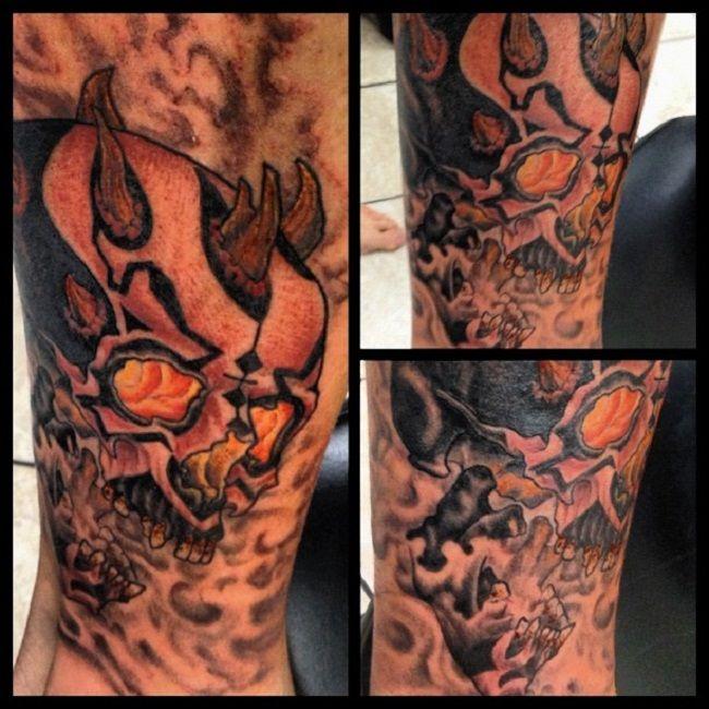 Adam Sperandio-Darth Maul Skull Tattoo