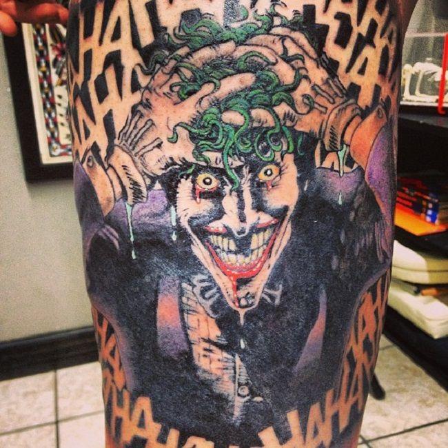 Adam Sperandio-Joker-Batman-The Killing Joke Tattoo