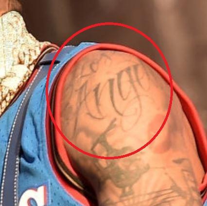 Blueface Los Angelis Tattoo