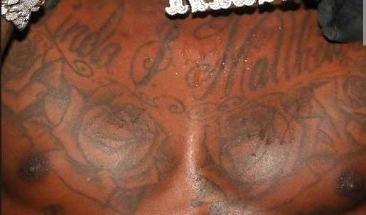 DaBaby Chest Tattoo