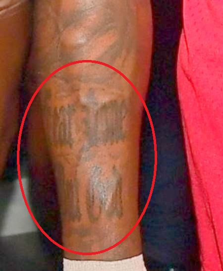 DaBaby right arm Tattoo