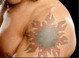 Edge tribal sun Tattoo