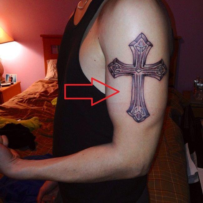 James Delury-Cross Tattoo