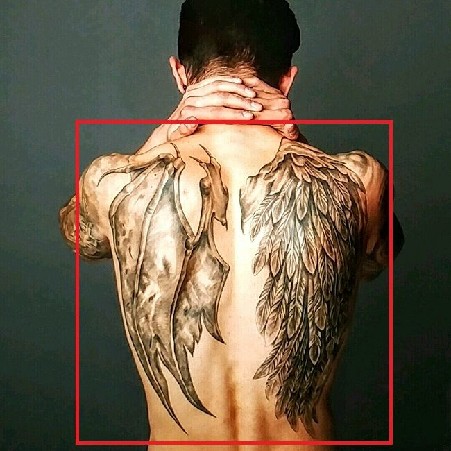 James Delury-Demon and Angel Wings-Tattoo