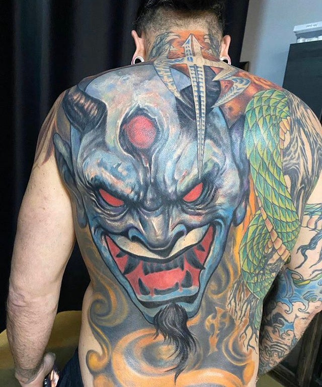 Jeff Hardy Back Tattoo