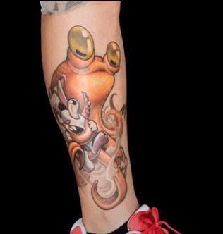 Jeff leg tattoo