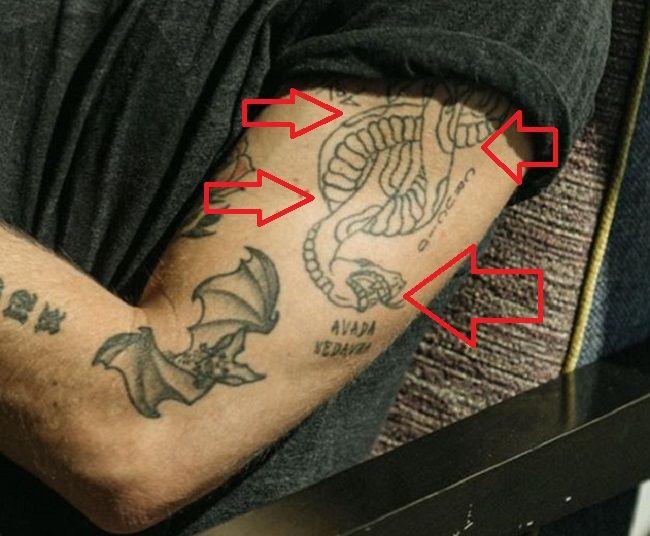 Jeremy Ruehlemann-Snake Tattoo