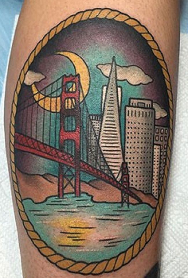 Kreayshawn-Golden gate Bridge Tattoo