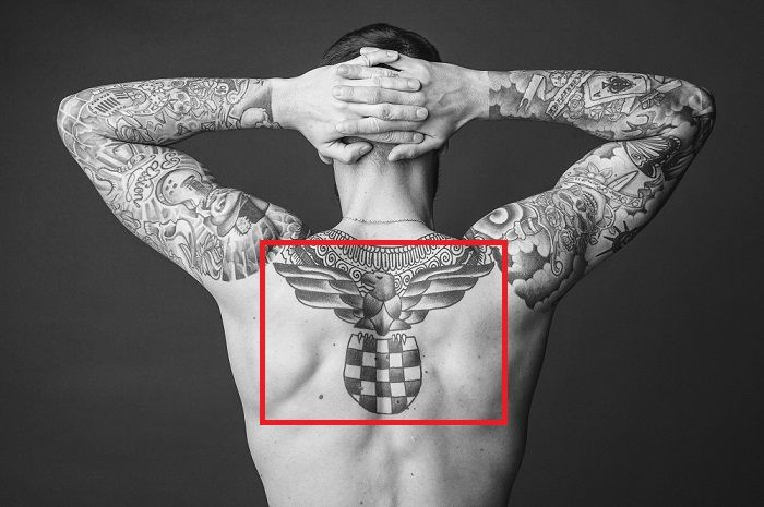 Lukas Sindicic-Coratia Flag with an Eagle Tattoo