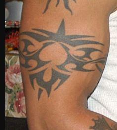 Rey Right Bicep Tribal Tattoo