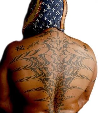 Rey back tattoo