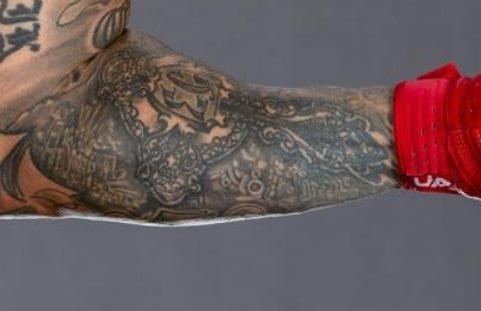 Rey left inner arm Tattoo