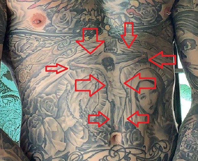 Trace Cyrus-Crucified Tattoo