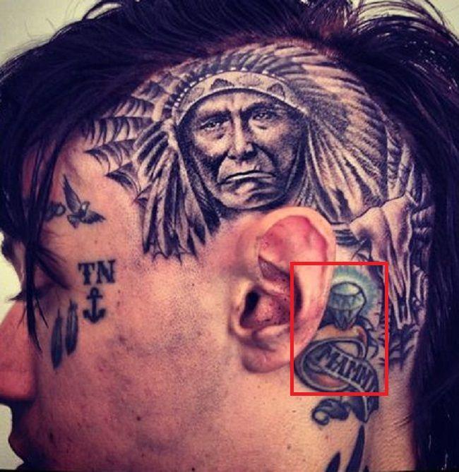 Trace Cyrus-Diamond Ring Tattoo