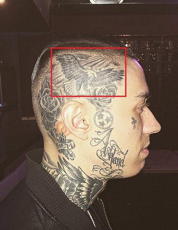 Trace Cyrus-Eagle Tattoo