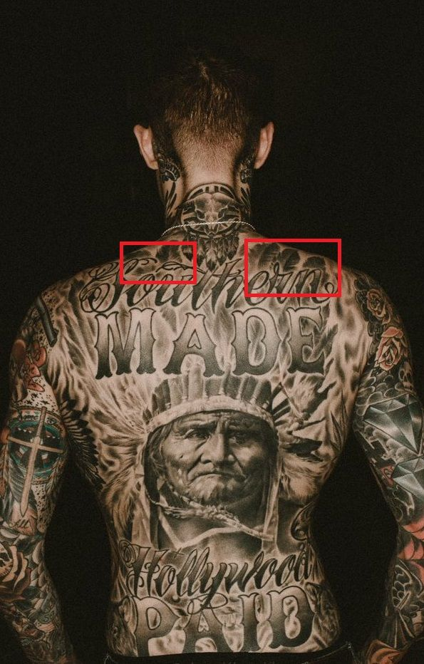 Trace Cyrus Feathers Tattoo