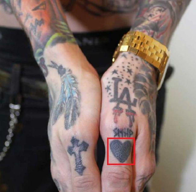Trace Cyrus-Heart Tattoo