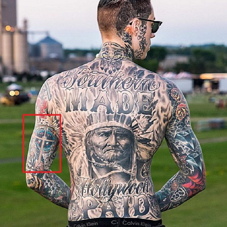 Trace Cyrus-Left arm tattoo