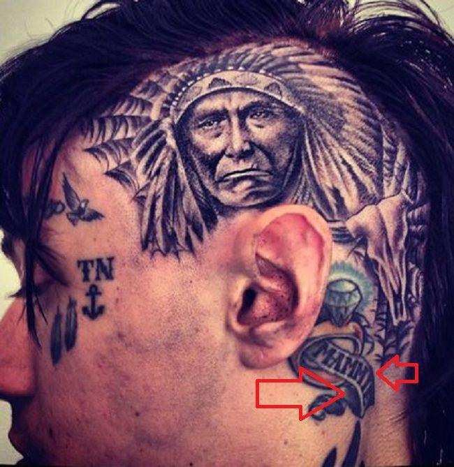 Trace Cyrus-MAMMIE Tattoo