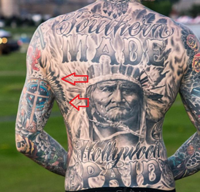 Trace Cyrus-Native American Tattoo