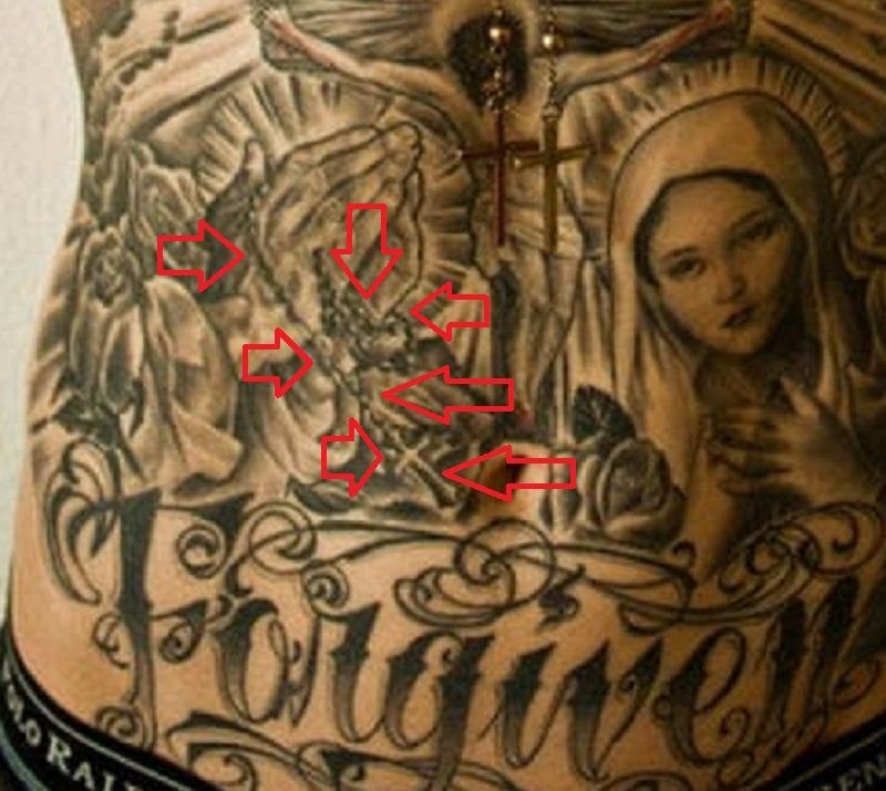 Trace Cyrus-Rosary Tattoo