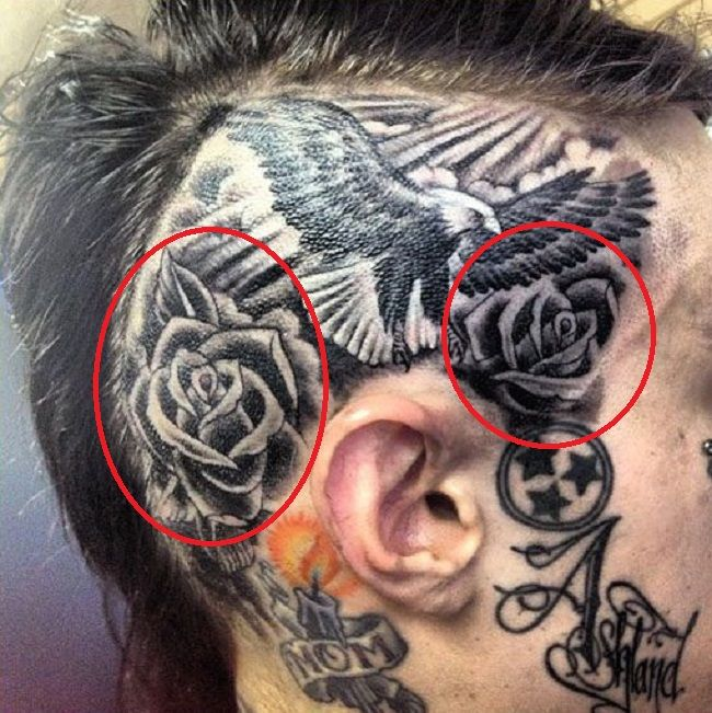Trace Cyrus-Roses Tattoo