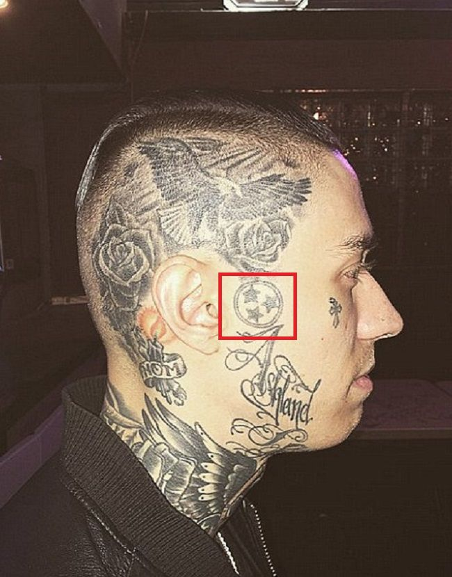 Trace Cyrus-Three Stars of the Flag of Tennessee Tattoo
