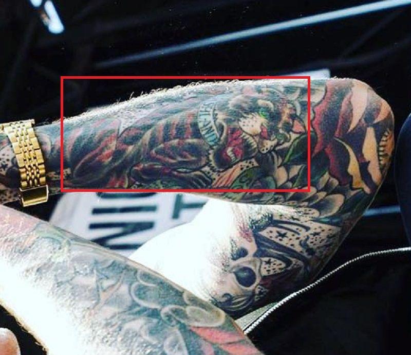 Trace Cyrus-Tiger Tattoo
