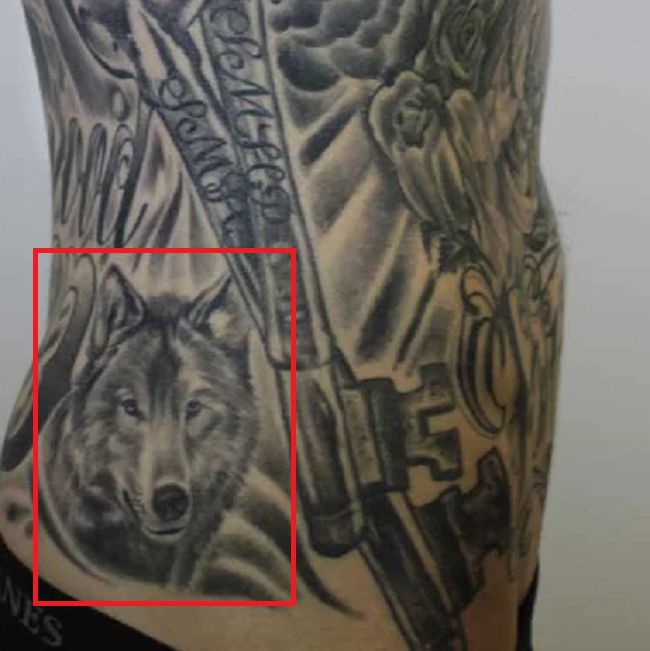 Trace Cyrus-Wolf Tattoo