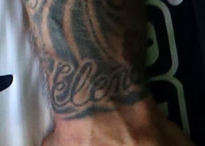 Valon name on left wrist